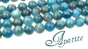 Apatite gemstone beads