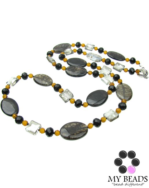 Agate and Amber Necklace Tutorial