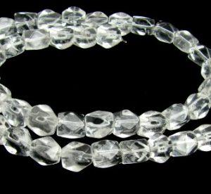 Clear Quartz Gemstone Beads