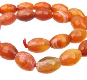 Fire Agate Gemstone Beads