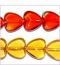 Heart Glass Beads