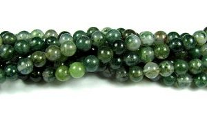 Moss Agate Gemstone Beads