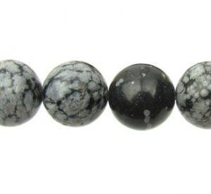 Snowflake Obsidian Gemstone Beads