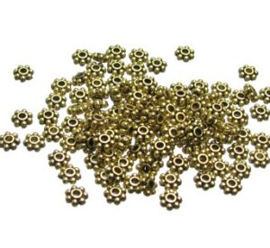 4mm gold daisy spacers