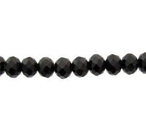black crystal rondelle beads 6x8mm