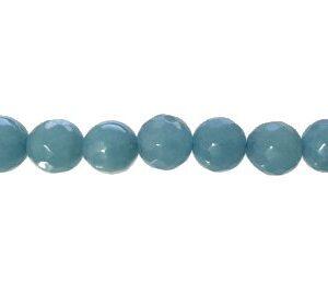 blue sponge quartz faceted 8mm round beads