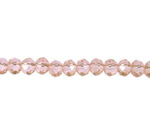 pink crystal rondelle beads 4x6mm