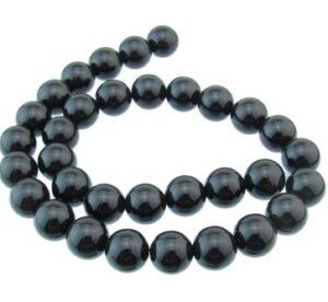 Black Onyx round beads 12mm