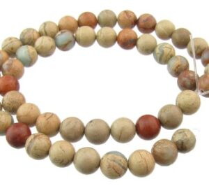 impression jasper 8mm beads
