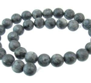 Larvikite 12mm round beads
