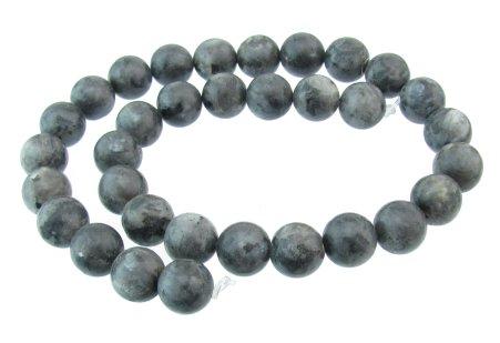 Larvikite 12mm round beads
