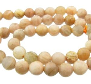 mixed moonstone faceted round gemstone beads