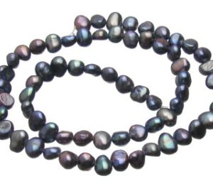 Peacock Nugget Freshwater Pearls approx. 6-7mm [strand]