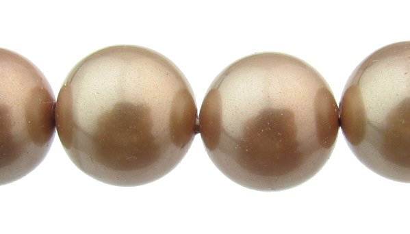 taupe shell based pearls