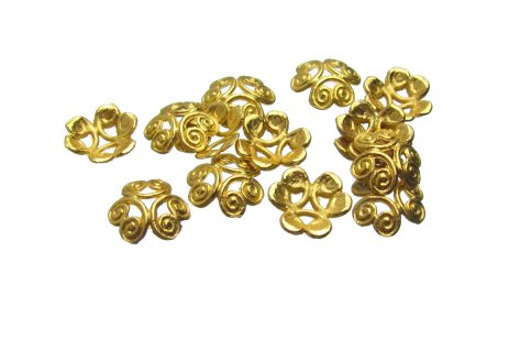 Gold Plated Bead Caps