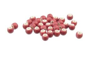 deep pink ceramic round beads 6mm