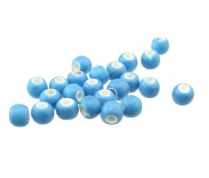 blue ceramic macrame beads