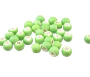 lime green ceramic beads big hole