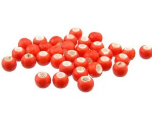 red ceramic macrame beads