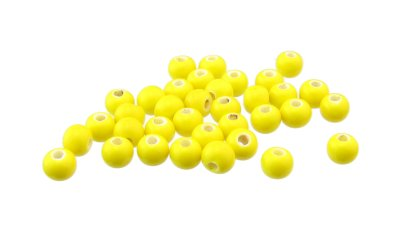 yellow ceramic beads big hole