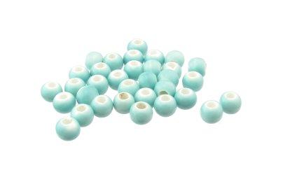 turquoise round ceramic beads