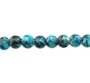 blue and black marble glass beads