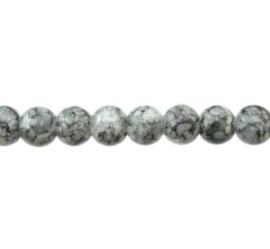 grey marble glass beads