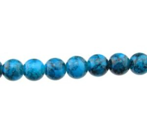 blue marble glass beads 8mm round