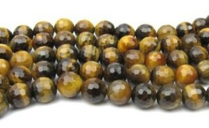 Faceted Round Gemstone Beads