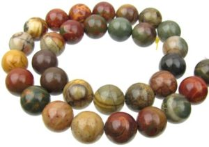 Gemstone round beads 12mm