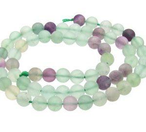 Matte fluorite 6mm beads