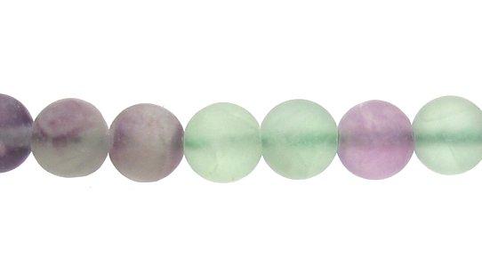 matte fluorute 6mm round beads
