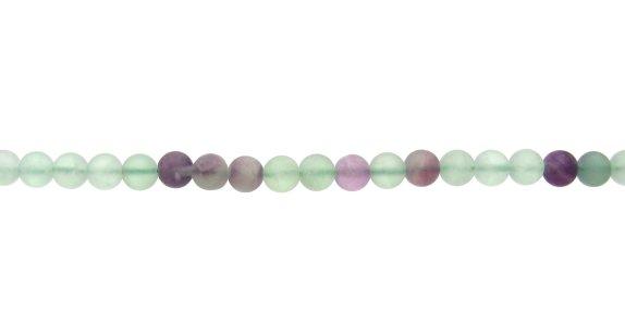 stran dof matte fluorite round beads