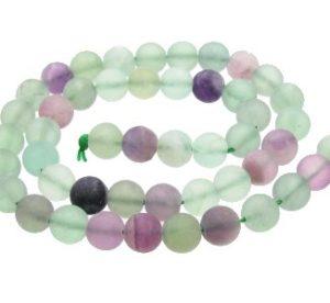 Matte Fluorite 8mm Beads