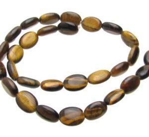 Tiger's Eye gemstone oval beads