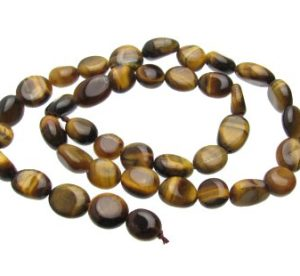 Tiger's Eye gemstone pebble beads
