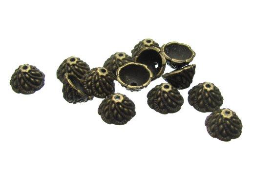 Bronze Cone Bead Caps