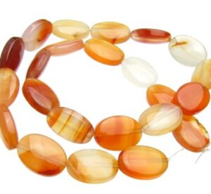 Carnelian Oval Beads