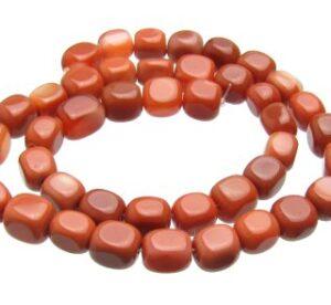 Carnelian Cube Nugget Beads