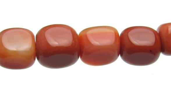 Carnelian Cube Beads