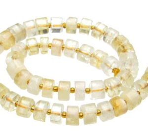 Citrine wheel shaped beads