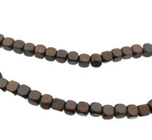 large cube wood beads