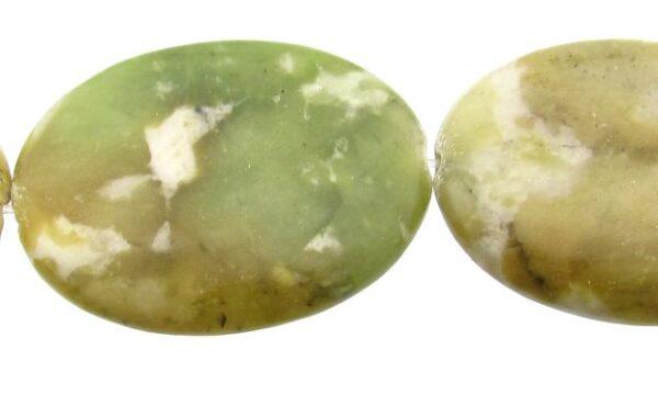 peace jasper oval beads