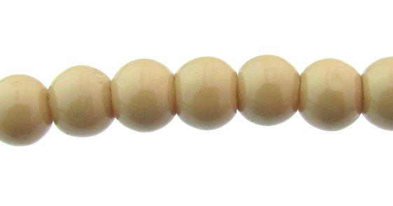 light brown glass round beads 4mm
