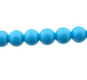 deep sky blue glass beads 8mm