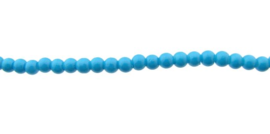 sky blue glass round beads 4mm