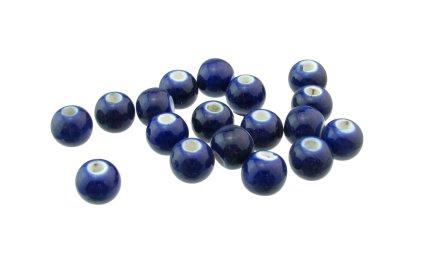 Royal Blue large hole ceramic beads macrame