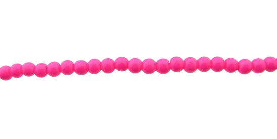 hot pink glass 4mm round beads
