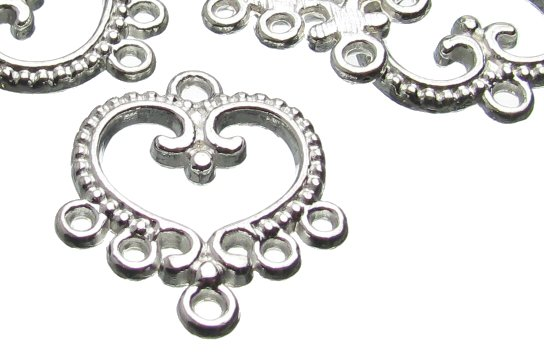 Silver Heart Chandelier