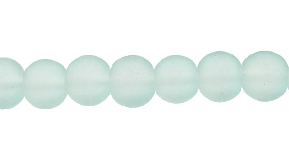 blue glass beads 4mm frosted